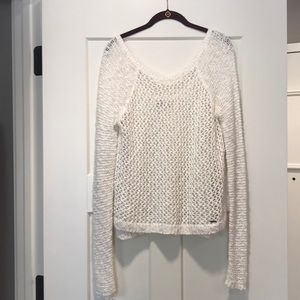 A&F white knit summer sweater